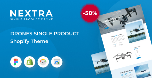Nextra – Single Product eCommerce Shopify Theme, Electronics Store