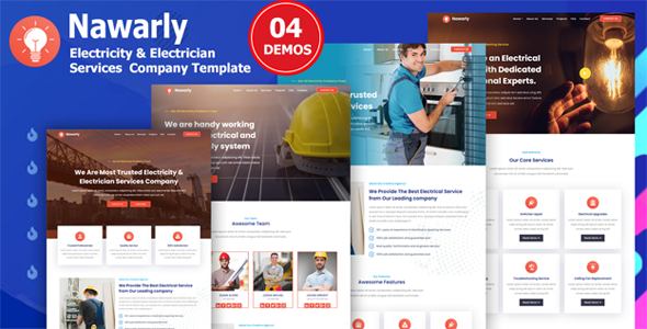 Nawarly - Electricity Repairing & Electrician Services Template