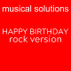 Happy Birthday Rock Version