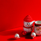 Christmas ceramic cups with festive decoration - PhotoDune Item for Sale