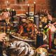 People celebrating Christmas or New Year with turkey and snacks - PhotoDune Item for Sale