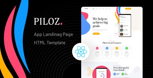 Piloz – React Next App Landing Page Template