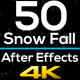 50 Realistic Snow Falls Project Pack - VideoHive Item for Sale