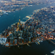 Aerial view of Manhattan cityscape and river, New York, United States - PhotoDune Item for Sale