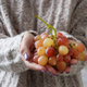 Woman holding pink grapes - PhotoDune Item for Sale