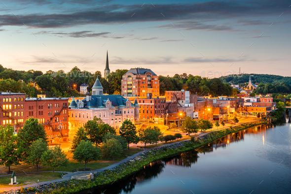 Augusta, Maine, USA Skyline - Stock Photo - Images