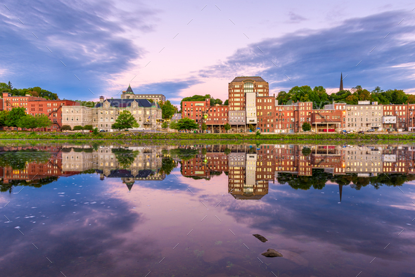 Augusta, Maine, USA Skyline - Stock Photo - Images