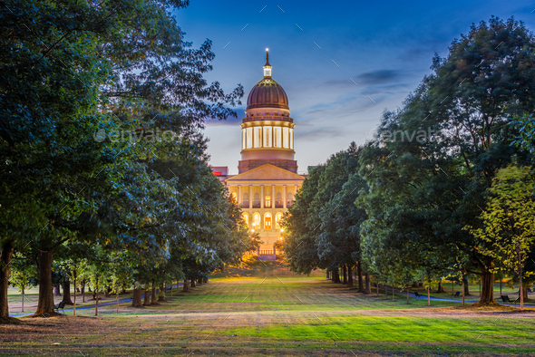 The Maine State House in Augusta, Maine - Stock Photo - Images