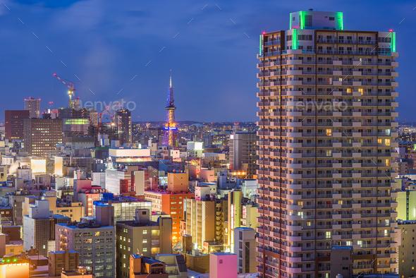 Sapporo, Hokkaido, Japan Cityscape - Stock Photo - Images