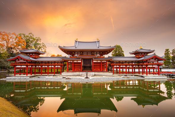 Uji, Kyoto, Japan at Byodo-in - Stock Photo - Images