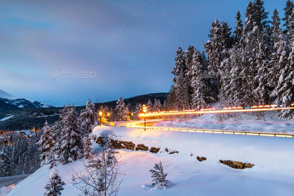 Breckenridge, Colorado, USA in WInter - Stock Photo - Images