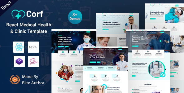 Corf – React Next Medical Health Template