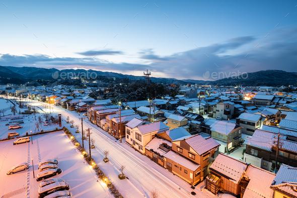 Wajima, Ishikawa, Japan in Winter - Stock Photo - Images