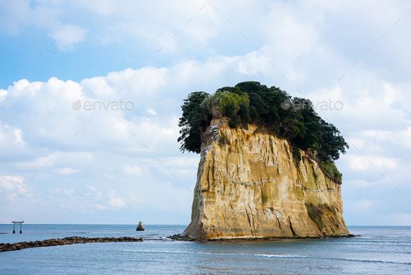 Suzu, Japan at Mitsukejima Island. - Stock Photo - Images