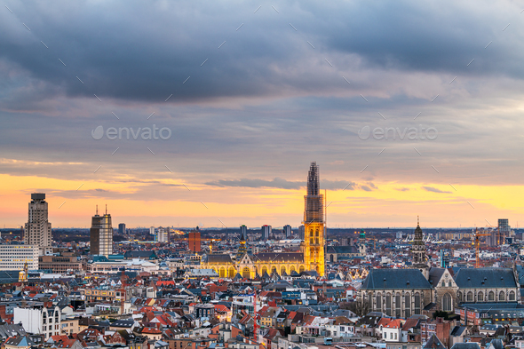 Antwerp, Belgium Cityscape - Stock Photo - Images