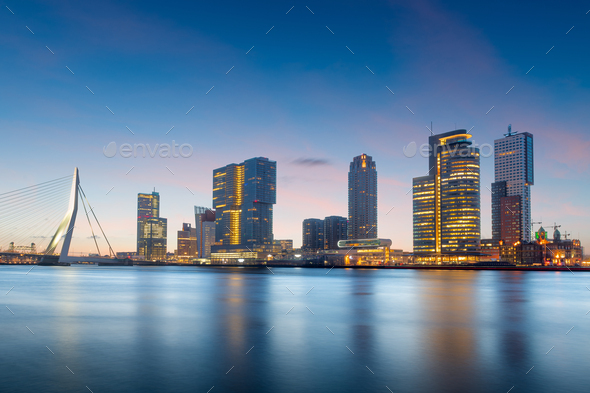 Rotterdam, Netherlands Skyline - Stock Photo - Images