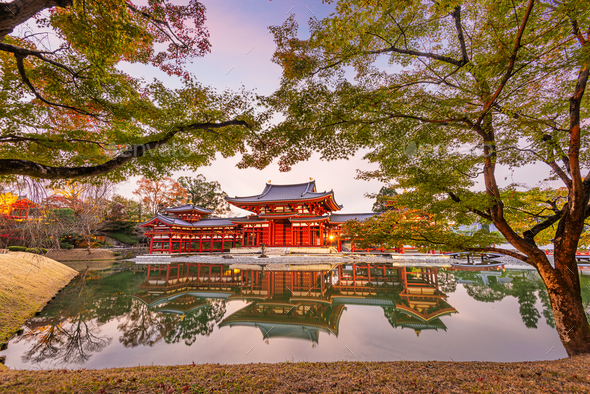 Uji, Kyoto, Japan at Byodo-in Temple - Stock Photo - Images