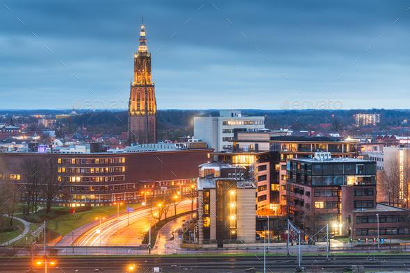 Amersfoort, Netherlands Town Skyline - Stock Photo - Images