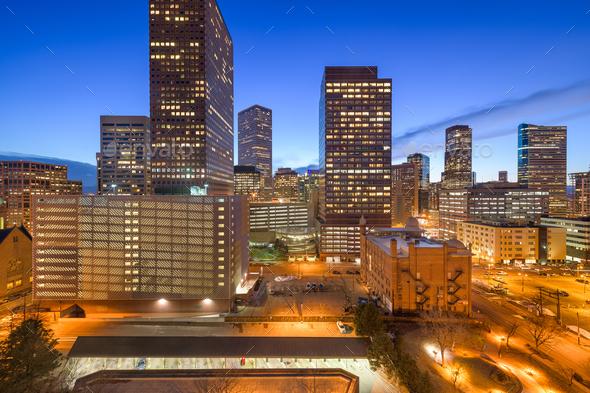 Denver, Colorado, USA Downtown - Stock Photo - Images