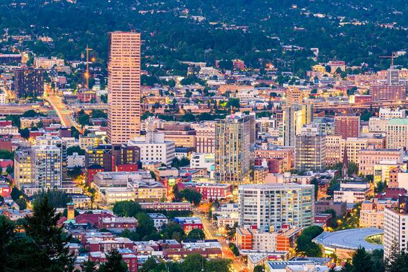 Portland, Oregon, USA Downtown - Stock Photo - Images