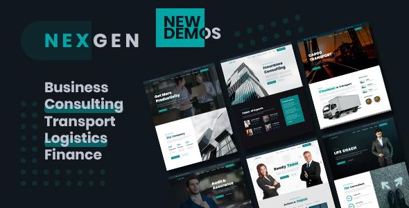 Nexgen – Consulting & Logistics HTML Template