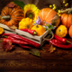 Fall decor with rustic box and pumpkins - PhotoDune Item for Sale