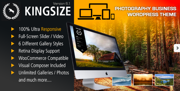 Free Download KingSize Fullscreen Photography Theme Nulled Latest Version