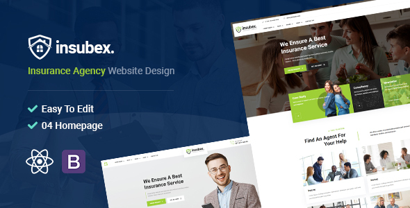 Insubex | Consulting & Insurance React Template