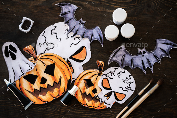 Drawings of Halloween characters - Stock Photo - Images