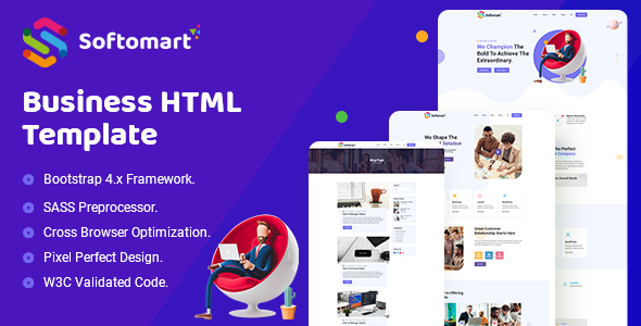 Softomart – Business Consulting HTML Template