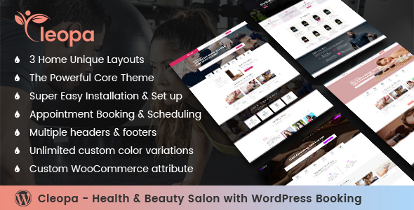 Cleopa - Health & Beauty Salon With WordPress Booking