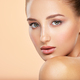 Beautiful face of young caucasian woman with perfect health fresh skin - PhotoDune Item for Sale