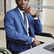 Disabled African businessman at office - PhotoDune Item for Sale