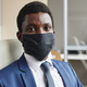 African businessman in mask - PhotoDune Item for Sale