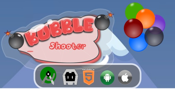 Bubble Shooter / Bubble Breaker + Admob (Construct 3)