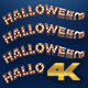 Halloween Light Bulbs 3D Text - VideoHive Item for Sale
