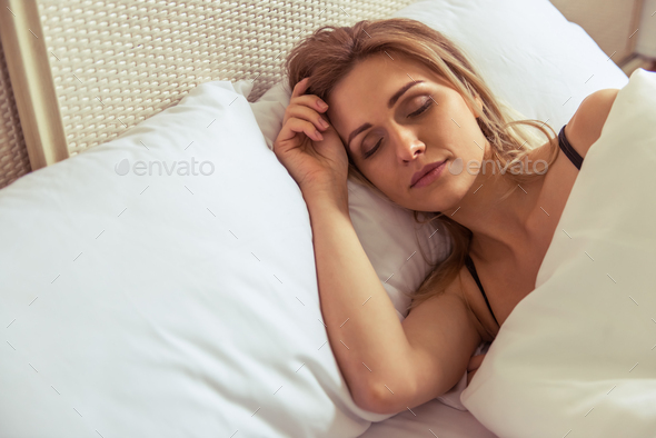 Girl in the morning - Stock Photo - Images