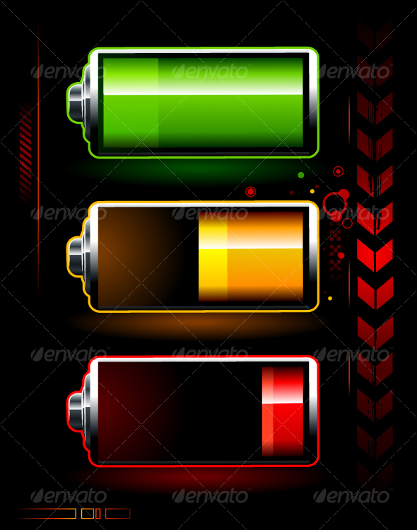 batteries - Objects Vectors