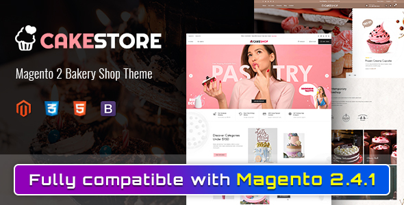 Cakestore – Responsive Magento 2 Bakery Theme