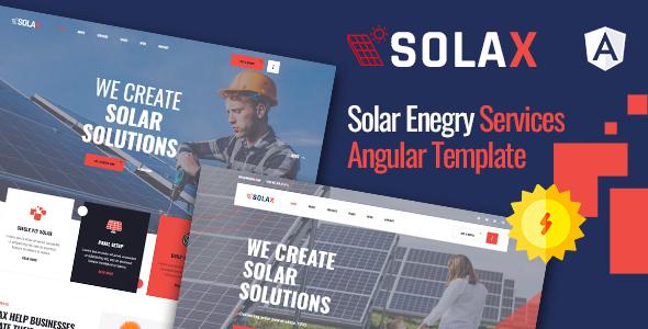 Solax | Solar Energy Angular Template