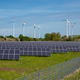 Solar energy panels with wind turbines - PhotoDune Item for Sale