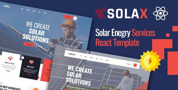 Top Solax | Green Energy React Template
