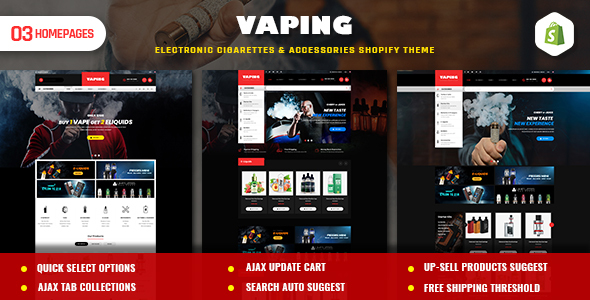 Vaping | Electronic Cigarettes & Accessories Shopify Theme