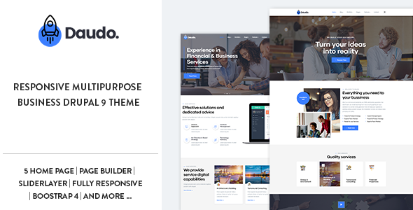 Daudo – Responsive Multipurpose Business Drupal 9 Theme