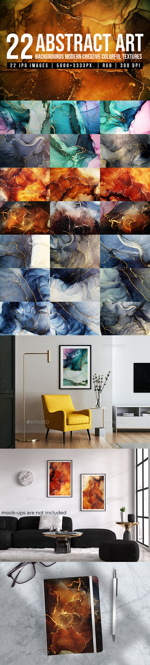 Abstract Art Backgrounds Modern Creative Colorful Textures