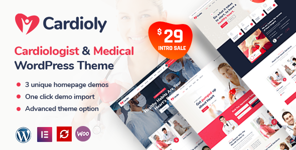 Cardioly – Cardiologist and Medical WordPress theme