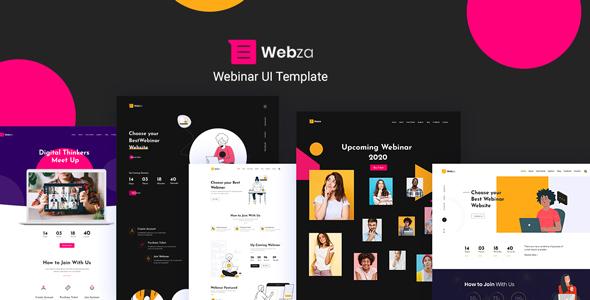 Webza - Webinar Landing Page UI Template