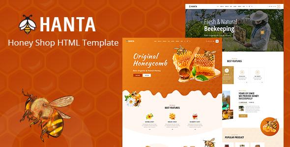 Hanta - Beekeeping and Honey Shop HTML Template