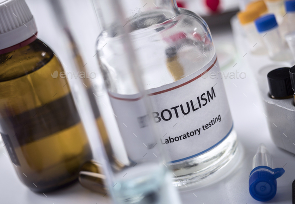 Botulism samples in laboratory, conceptual image - Stock Photo - Images