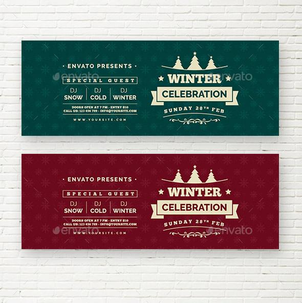 Winter Celebration Web Sliders
